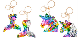Sequin Keychain Mermaid / Unicorn