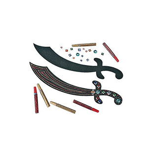 Pirate Sword Craft Kit - 12 Count