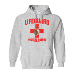 Hooters Lifeguard Pullover Hoodies-Ash Grey-Small (S)-