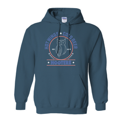 Hooters Patriotic Hoodies (No-Zip/Pullover)-Indigo Blue-Small (S)-
