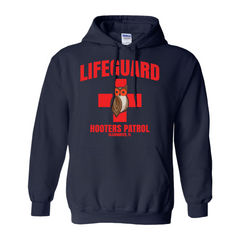 Hooters Lifeguard Pullover Hoodies-Navy-Small (S)-
