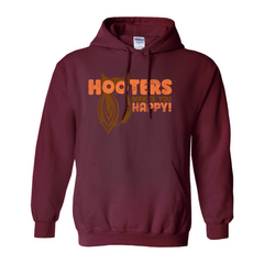 Hooters Makes You Happy Hoodies-Maroon-Small (S)-