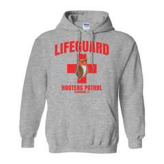 Hooters Lifeguard Pullover Hoodies-Sport Grey-Small (S)-