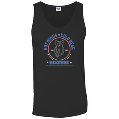 Hooters Patriotic Tank Tops-Black-Small (S)-