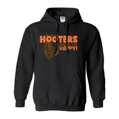 Hooters Makes You Happy Hoodies-Black-Small (S)-