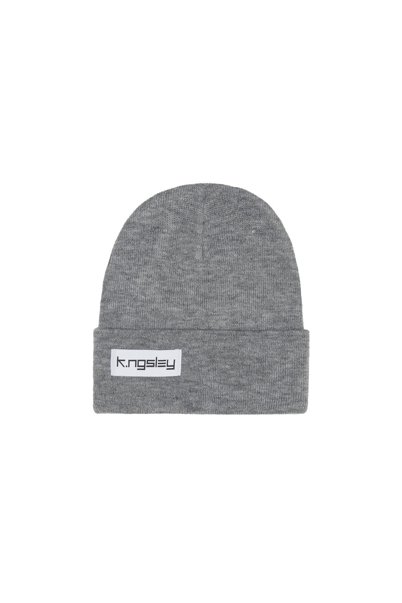 "Light Grey ""BB"" Beanie"