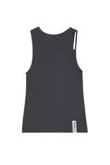"Grey ""FIST"" Ribbed Tank"