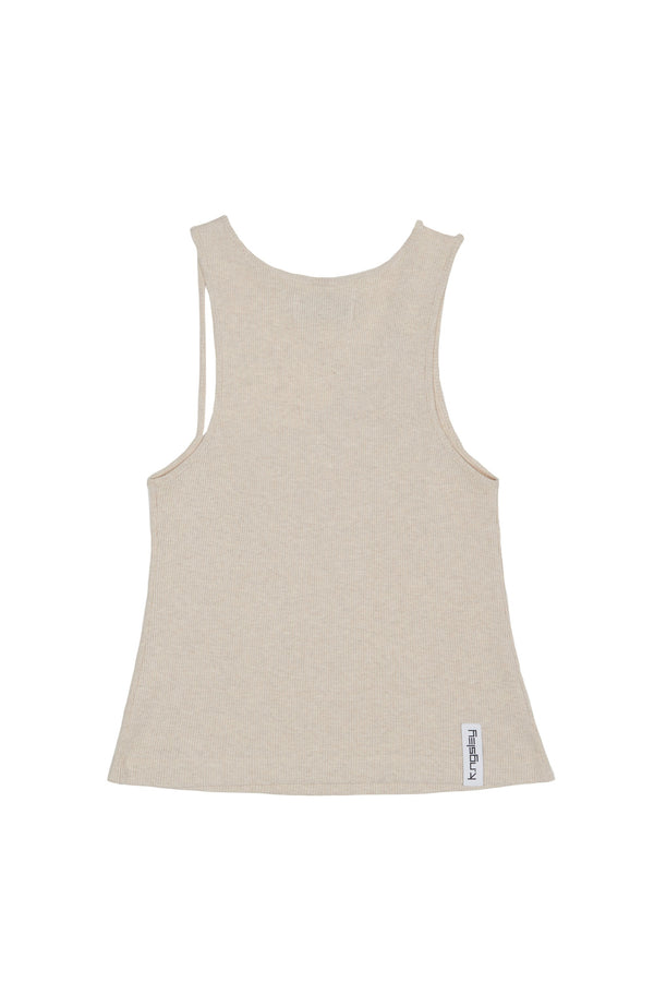 "Oat ""FIST"" Ribbed Tank"