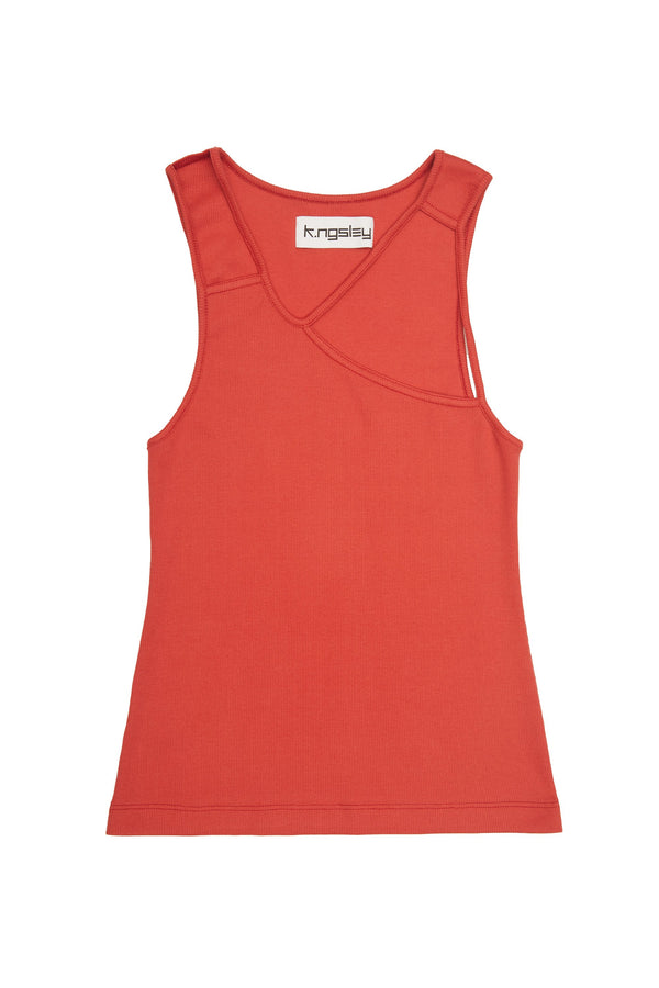 "Vermilion ""FIST"" Ribbed Tank"