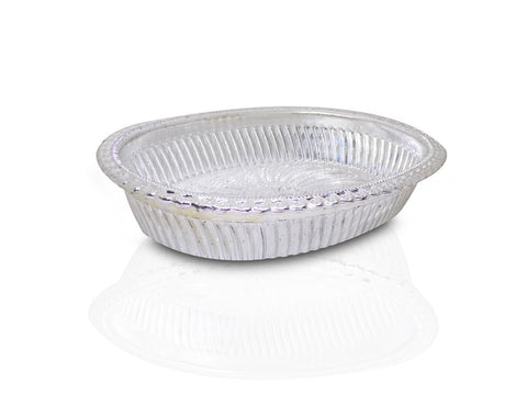Multipurpose Royal Design Oval Silver Gift Tray