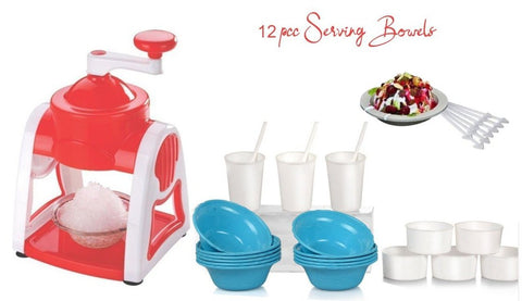 Ice Gola Maker Machine with 12 Plastic Bowl Cup Glass and Stick