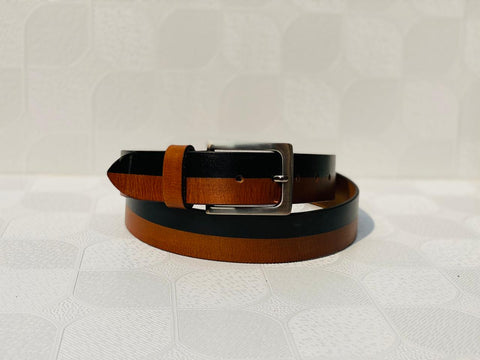 Stylish Genuine leather Black and Brown Colour Mens Belt