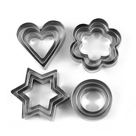 Cookie Cutter Stainless Steel Cookie Cutter  (12 Pieces)