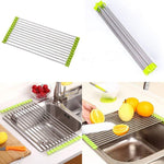 Over the Sink Multipurpose Roll-Up Foldable Dish Drying Rack