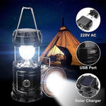 Rechargeable Camping Lantern LED Solar Emergency Light Bulb