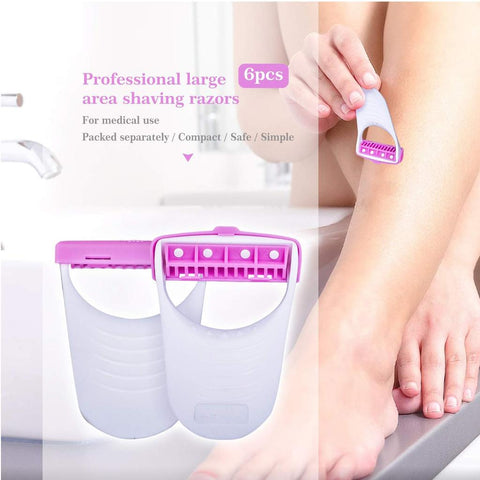 Disposable Body Skin Hair Removal Razor for Women – Pack of 6