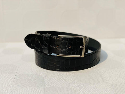 Black Leather Casual and Formal Belts For Men and Boys