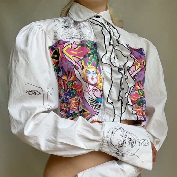 Behind the Art Print Button Downs