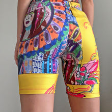 Load image into Gallery viewer, Mixed Art Print Patchwork Bike Shorts