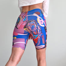 Load image into Gallery viewer, Blue Girl Digital Painting Bike Shorts