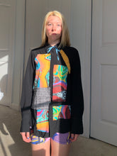 Load image into Gallery viewer, 1of1 JILL CARLOCK X KATELYN FAY Patchwork Art Print Button Down