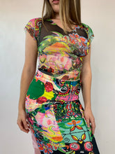 Load image into Gallery viewer, Rainforest Flora Patchwork Skirt
