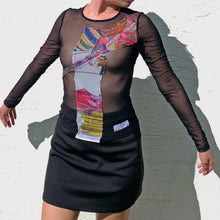 Load image into Gallery viewer, 1/1 Patchwork Digital Success Mesh Long Sleeve Top