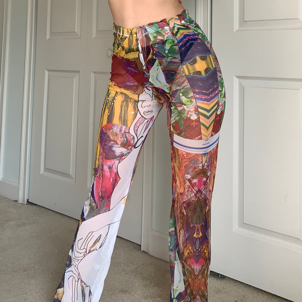 Digital Success Art Print Mesh Pants