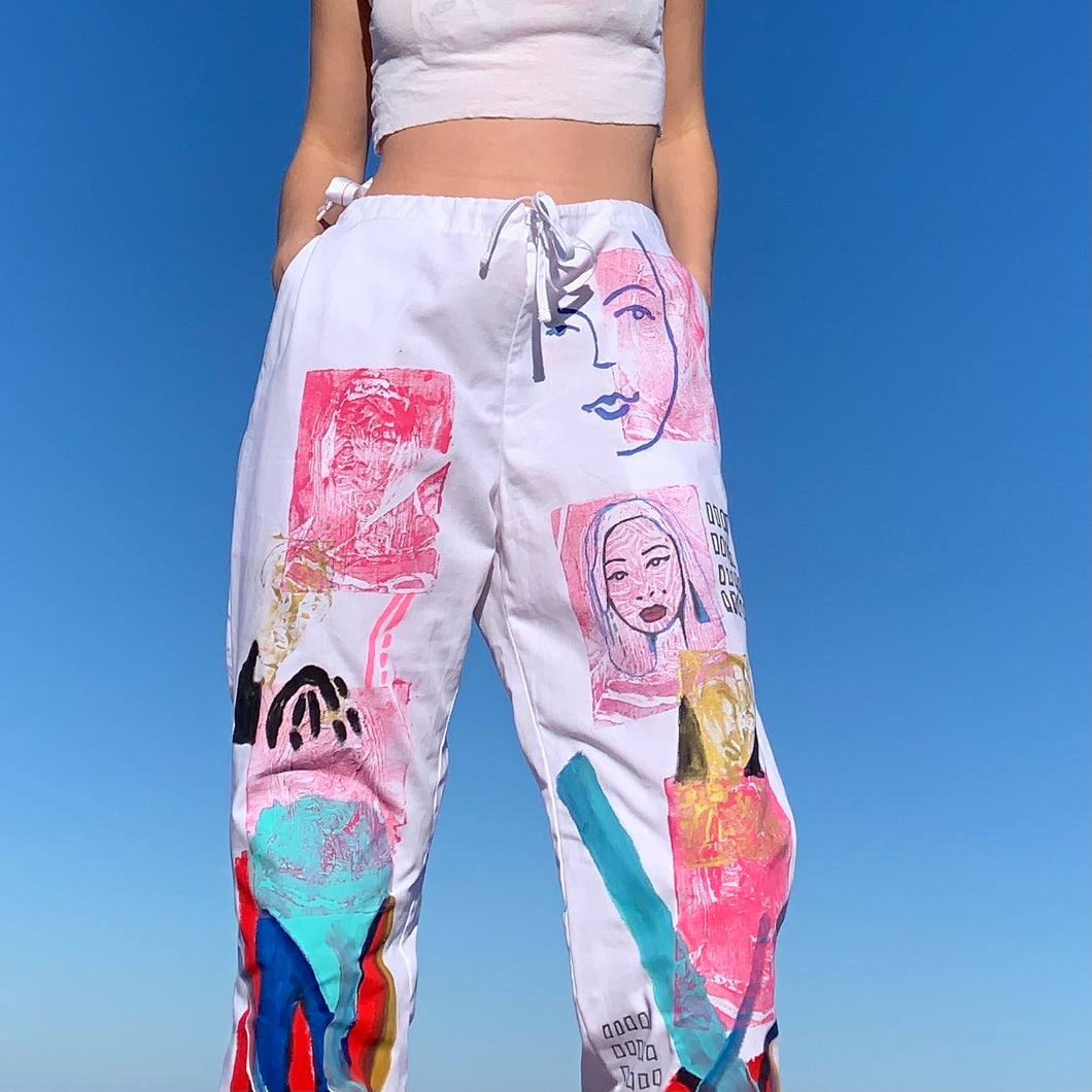 1/1 Hand Painted Workers Pants