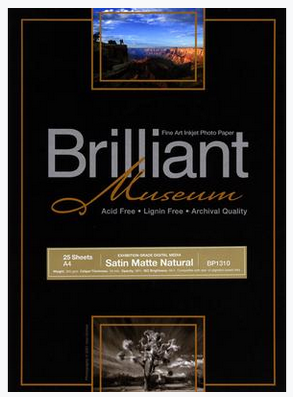 Brilliant Museum Satin Matte Natural A3 x 25 Blatt 300g/m²