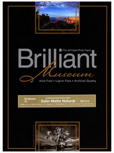 Load image into Gallery viewer, Brilliant Museum Satin Mat Natural 43,2cm x 12m 300g/m²