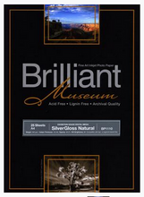 Lade das Bild in den Galerie-Viewer, Brilliant Museum SilverGloss Natural 43,2cm x 12m 300g/m²