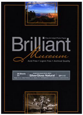 Brilliant Museum SilverGloss Natural A4 x 25 sheets 300g/m²