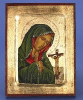 Mater Delorosa - Hand Painted - GOLD LEAF - Beautiful Catholic Gifts