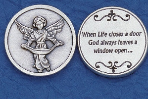 Angel Token - Silver Plated (pack of 10) - Beautiful Catholic Gifts