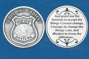 Police Officer Token - Silver Plated (pack of 10) - Beautiful Catholic Gifts