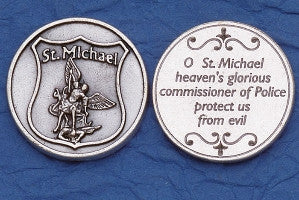 Saint Michael | Police Token - Silver Plated (pack of 10) - Beautiful Catholic Gifts
