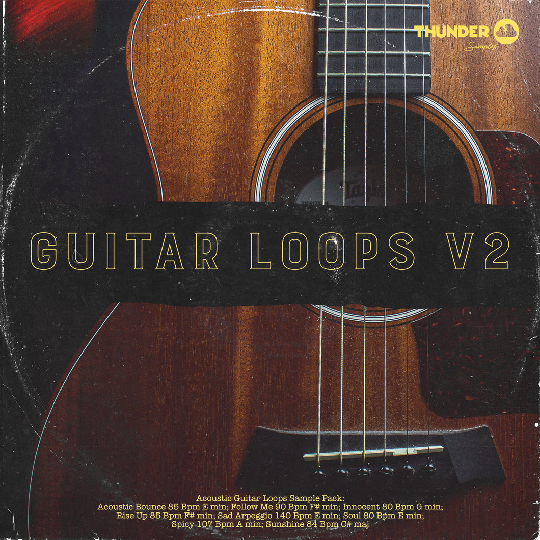 Thunder Guitar Loops V2 (Acoustic Guitar Loops) - Thunder Samples