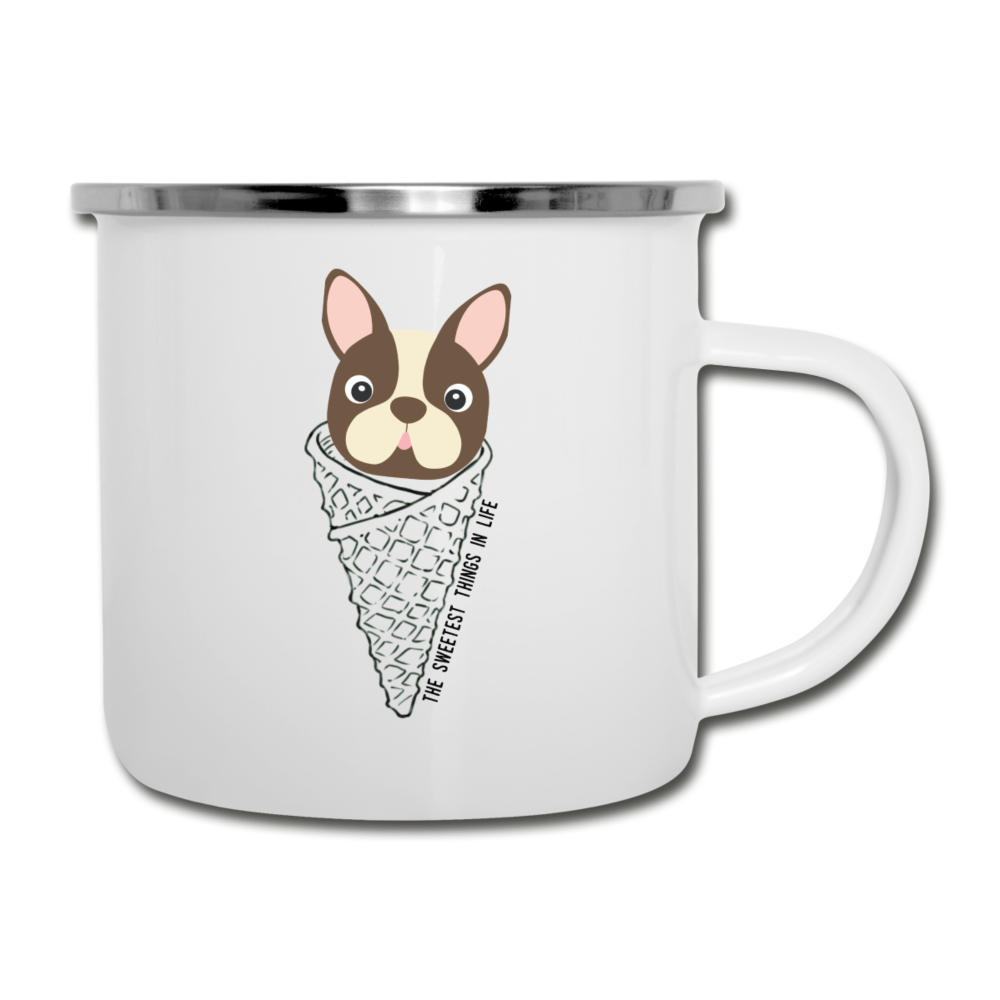Boston Terrier Cone Mug - white