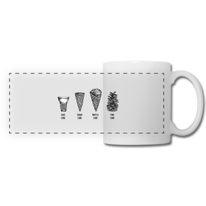 Open image in slideshow, Four Cones Coffee Mug - white