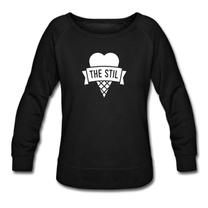Open image in slideshow, Women's Logo Crewneck Sweatshirt - black