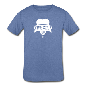 Open image in slideshow, Kids' Logo T-Shirt - heather Blue