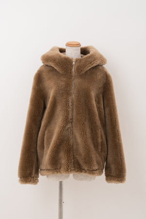 再入荷|Wool Boa Mouton Hood CT - VOLATA Online Shop