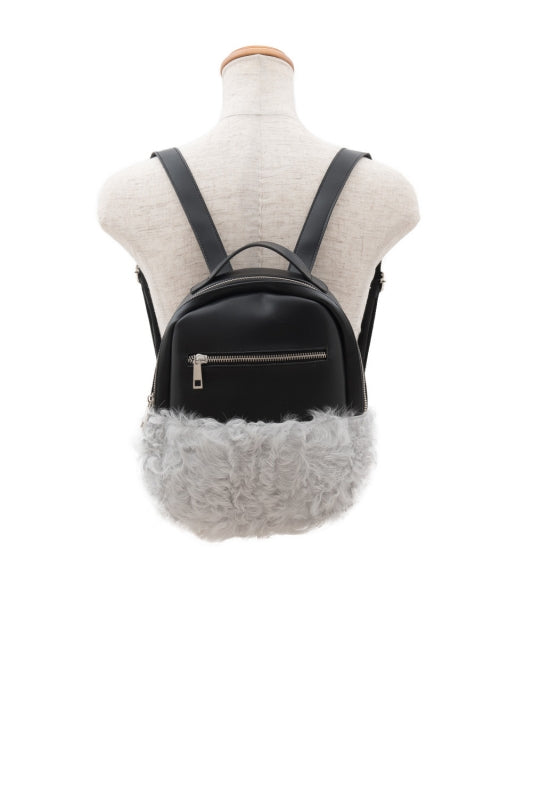 Kalgan Lamb & Fake Leather Bag - VOLATA Online Shop