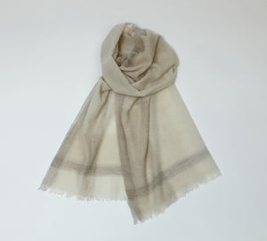 Cashmere Stole|グレーチェック(1カラー)