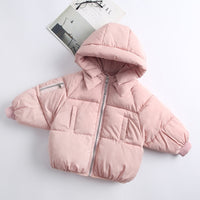 2-6Yrs Children's Casual Outerwear Coat Girl Cold Winter Warm Hooded Coat Children Cotton-Padded Clothes Kids Warm Down Jacket