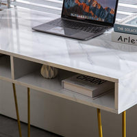 Marble-Style Home Office Table