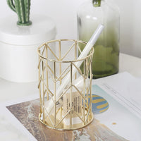 Metal Pen Holder Container