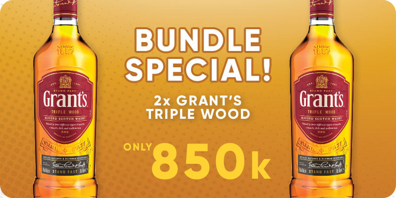 BUNDLE SPECIAL! - 2 x Grants Triple Wood 700ml