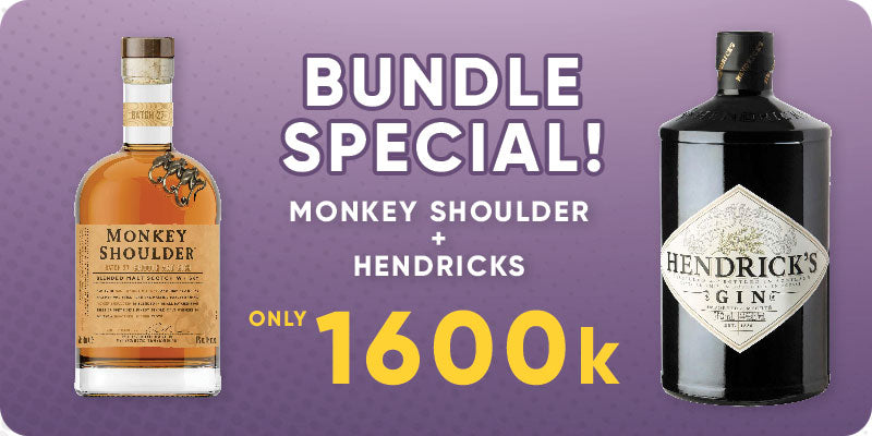 BUNDLE SPECIAL! - Hendricks Gin 700ml + Monkey Shoulder 700ml